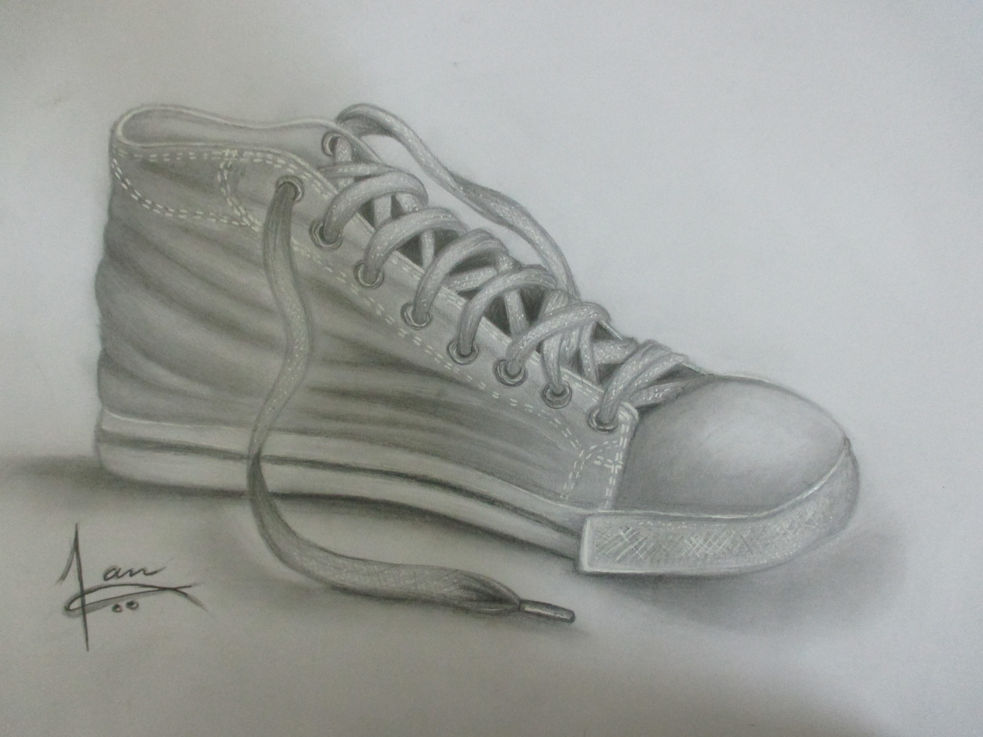 pencil shading of a shoe  speed drawing video